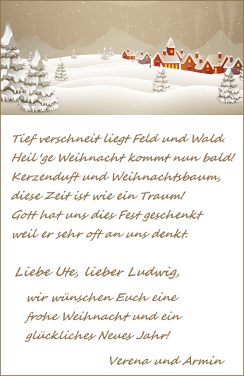 weihnachtsgr e mit einem weihnachtsgedicht. Black Bedroom Furniture Sets. Home Design Ideas